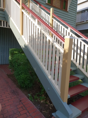 carpentry – Camp Hill – handrail, guard railing, steps